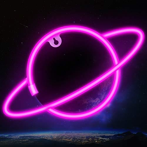 Ifreelife Neon Light Lightning Planet Neon Sign USB