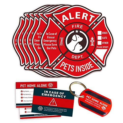 Pet Alert Stickers Static Cling Window Decals Emergency ...
