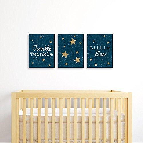 Twinkle Twinkle Little Star - Baby Boy Nursery Wall Art ...